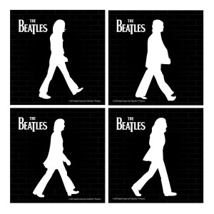 The Beatles Abbey Road Silhouettes 4 pc. Coaster Set