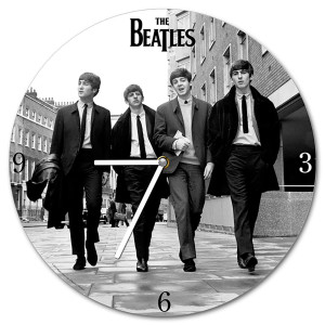 Beatles Black and White Clock