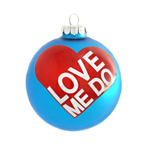 Love Me Do Round Ornament