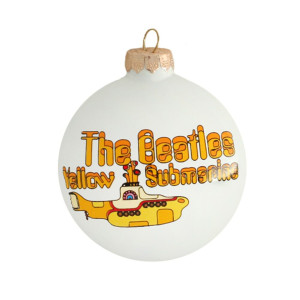 Yellow Submarine Round Ornament