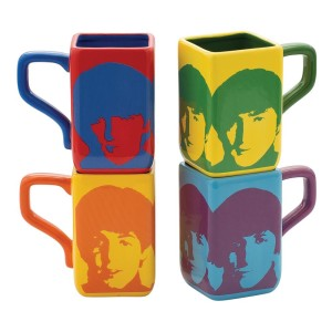 Color Bar 4 pc. Square Mug Set