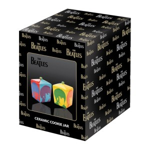 Color Bar Ceramic Cookie Jar