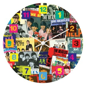 "The Singles Collection 13.5"" Wood Wall Clock"