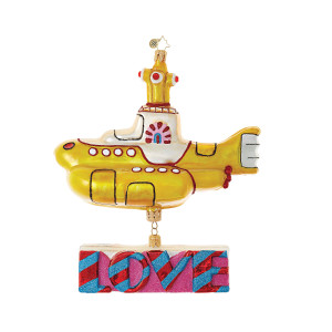 Yellow Submarine with Love The Beatles Ornament