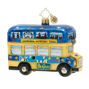Psychedelic Magical Mystery Bus! Ornament