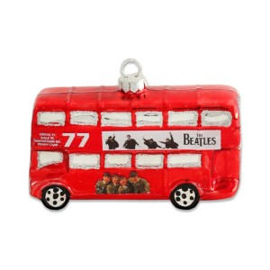 The Beatles Red London Bus Ornament