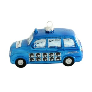 The Beatles Blue London Taxi Ornament