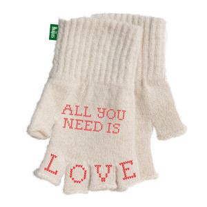 All You Need Is Love Fingerless Gloves