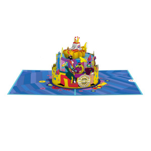 Yellow Submarine Birthday Cake LovePop Card