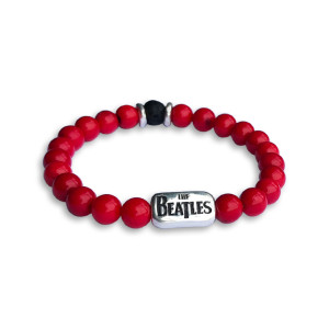 Beaded Red Coral Bracelet