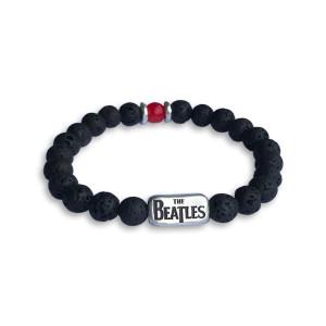 Beaded Black Lava Bracelet