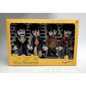 The Beatles 4 Band Member Plush Box Set