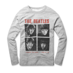 Ticket To Ride / Yes It Is Crewneck Sweatshirt