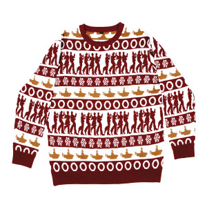 Yellow Submarine Holiday Jacquard Knit Sweater