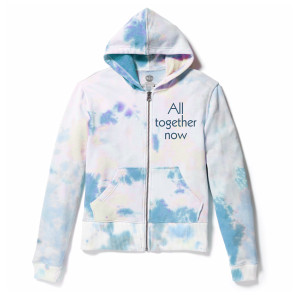 All Together Now TieDye Zip Hoodie