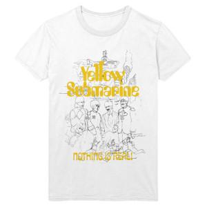 Yellow Submarine 50th Anniversary White Outline T-Shirt