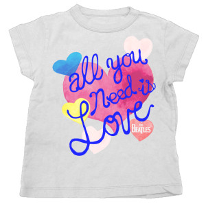 All You Need Watercolor Hearts Youth T-Shirt