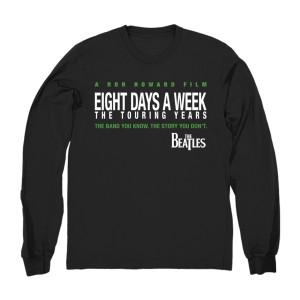 Eight Days A Week Long Sleeve Black T-Shirt