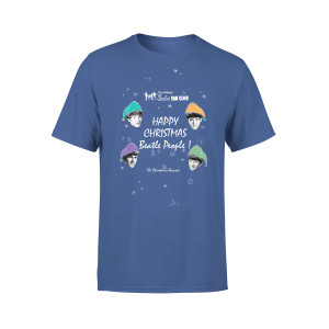 Happy Christmas Blue Kids T-Shirt
