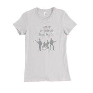 Happy Christmas White Juniors T-Shirt