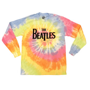 Flocked Tie-dye Long Sleeve Logo T-Shirt