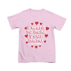 I Want To Hold Your Hand Pink T-Shirt