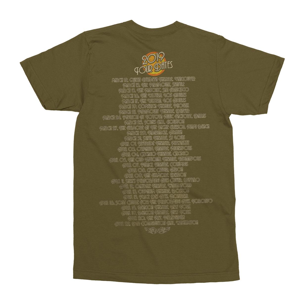 2019 Saucerful of Secrets Tour Pocket Print Dateback T-Shirt