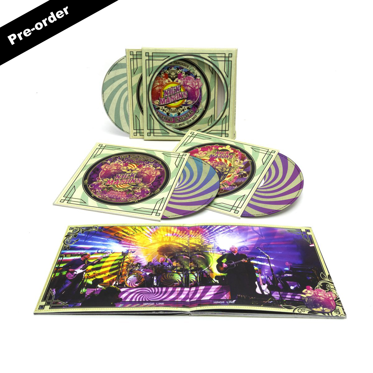 Nick Mason's Saucerful of Secrets Live at the Roundhouse Round Logo Magnet + Choice of Media Bundle