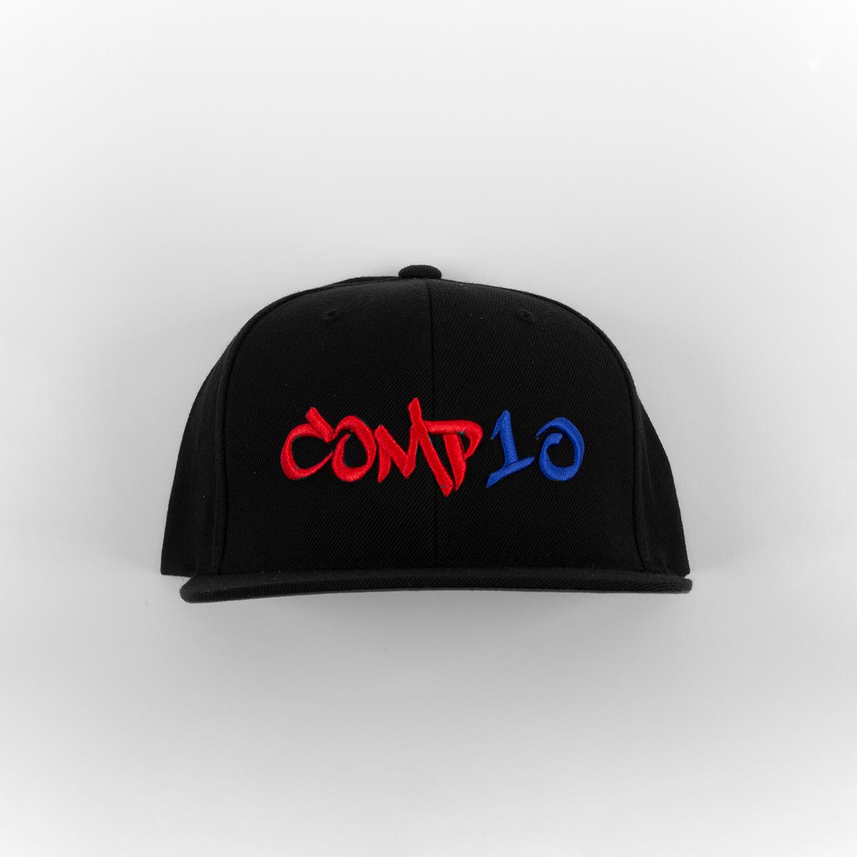 COMP10 Snapback (Black/Red/Blue)