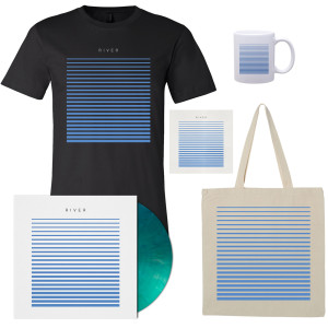 River T-Shirt - Black, Tote, Mug, Vinyl, and CD Bundle