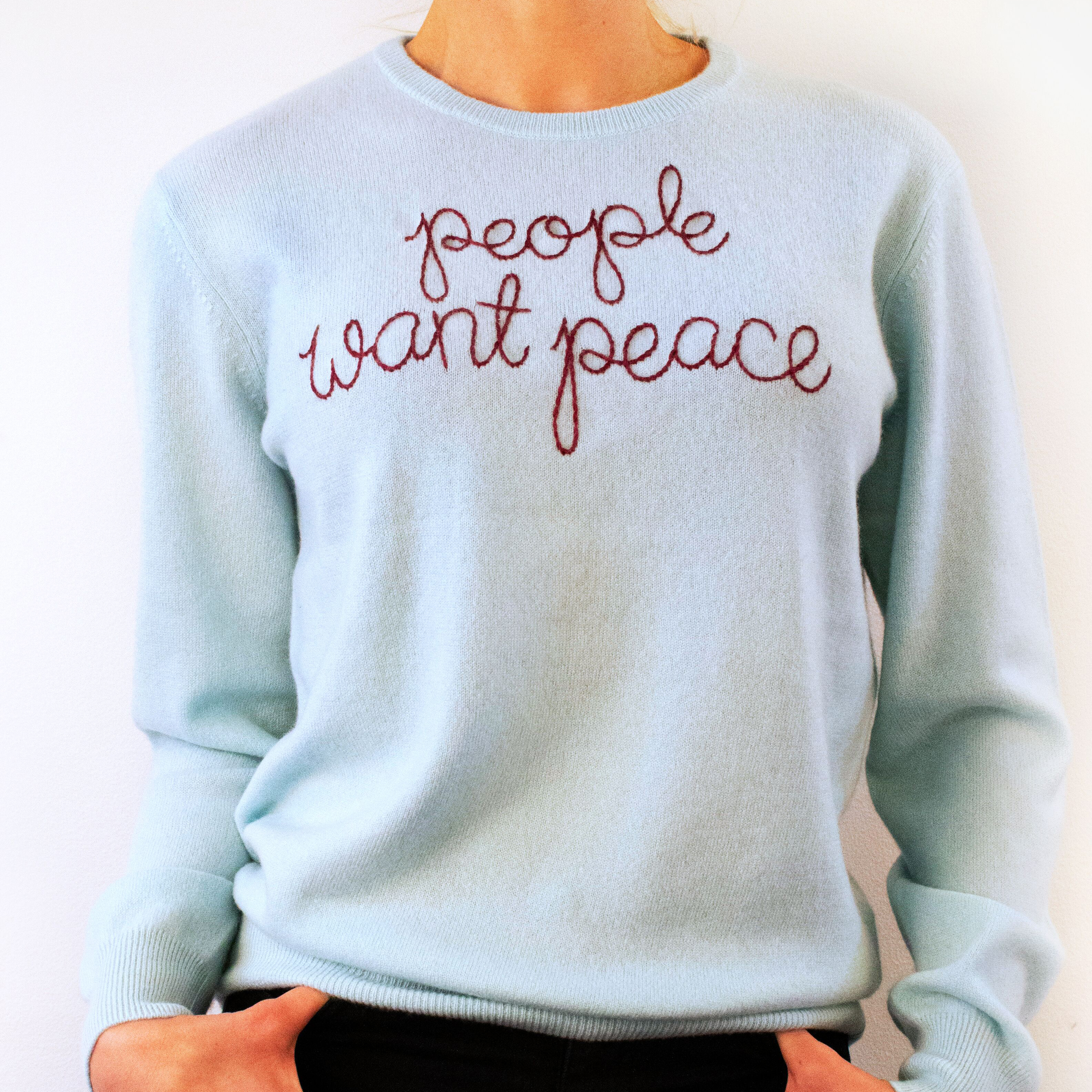 People Want Peace Lingua Franca Jumper