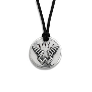 Pennyroyal Wings Silver Pendant Wax Cord