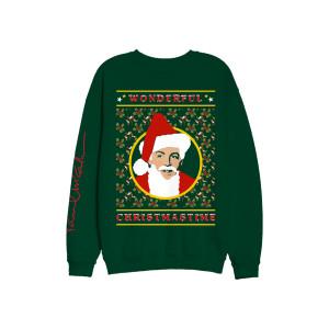 Wonderful Christmas Time Green Crewneck