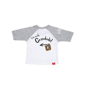Hey Grandude! Children's Baseball Tee
