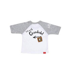 Hey Grandude! Children's Baseball Tee