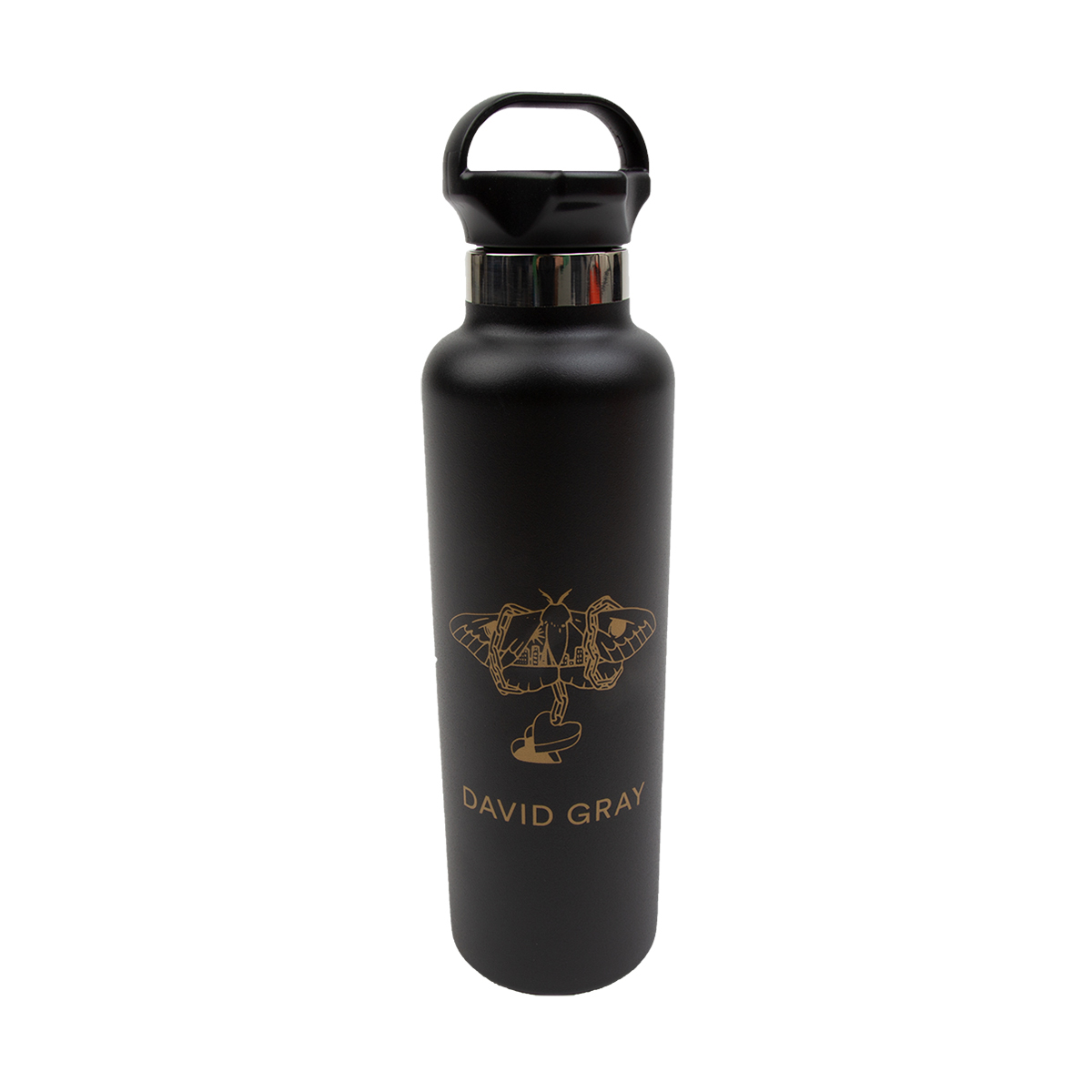 Black & Gold Moth Water Bottle