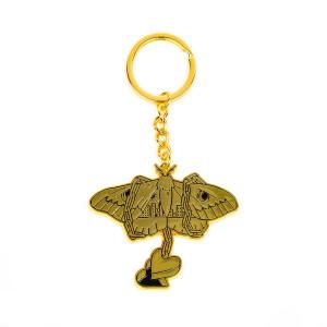 Moth Soft Enamel Key Ring