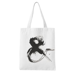 Ampersand White Tote Bag