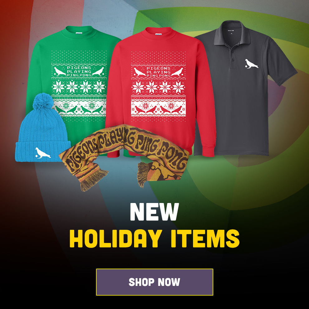 Pigeons Playing Ping Pong - 2019 Holiday Items - Shop Now