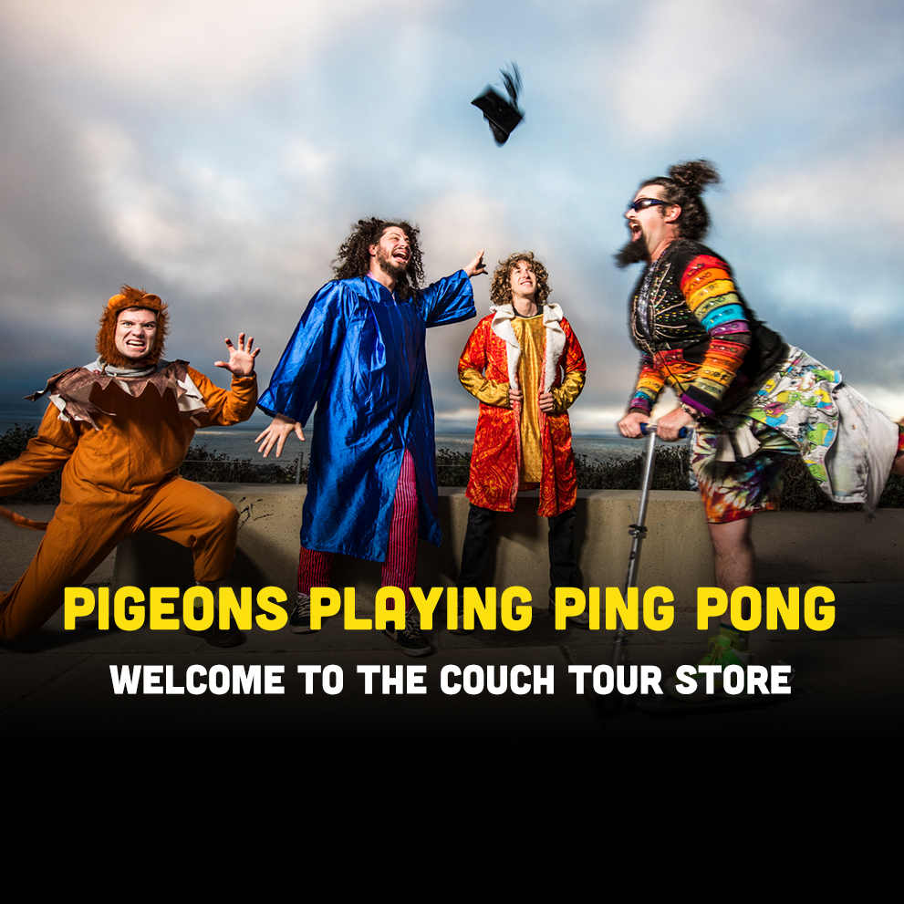 Pigeons Playing Ping Pong | Welcome to the Couch Tour store