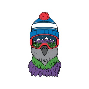 Goggle Bird Sticker