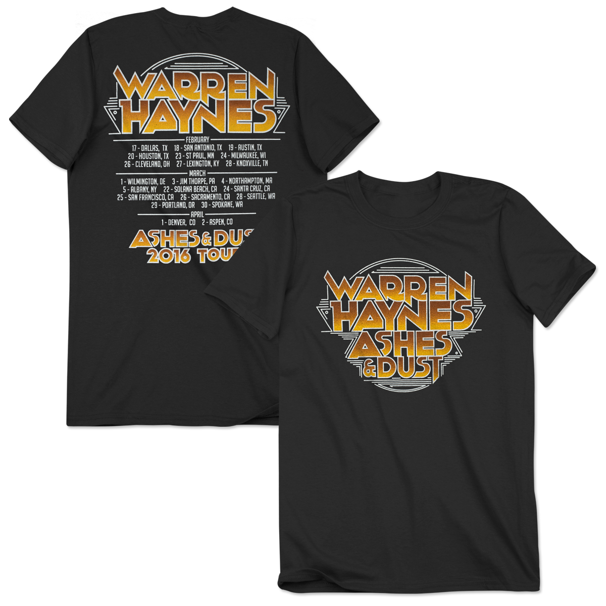 Warren Haynes 2016 Spring Tour T-Shirt