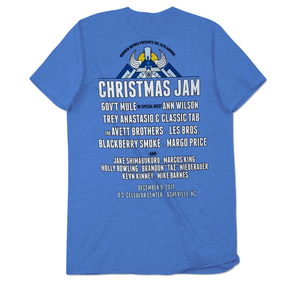 2017 Christmas Jam Round Guitar Logo T-Shirt