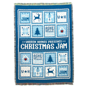 Warren Haynes 2015 Christmas Jam Throw Blanket