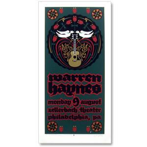 Warren Haynes 2004 Zellerbach Theater Philadelphia Event Poster