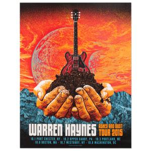 Warren Haynes Fall Tour 2015 Hands Poster