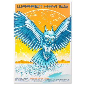 Warren Haynes August 2015 Tour Poster