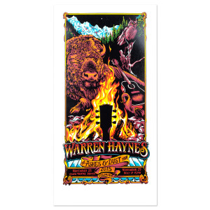 Warren Haynes November 2015 Colorado Poster