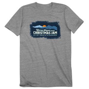 2017 Christmas Jam Sunset Logo T-Shirt