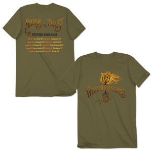 Warren Haynes 2015 Summer Tour Flaming Roots T-Shirt